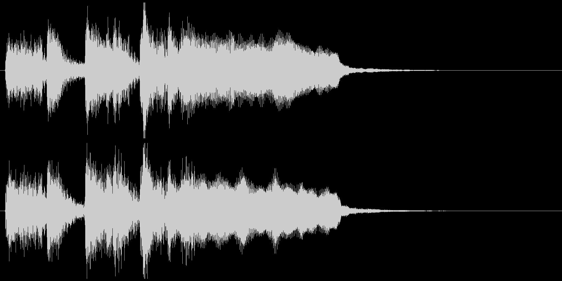 ステージクリア!っぽいジングル、ジャズの未再生の波形