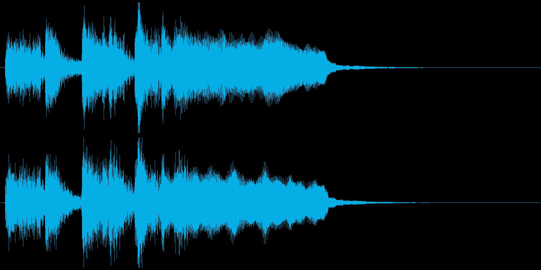 ステージクリア!っぽいジングル、ジャズの再生済みの波形
