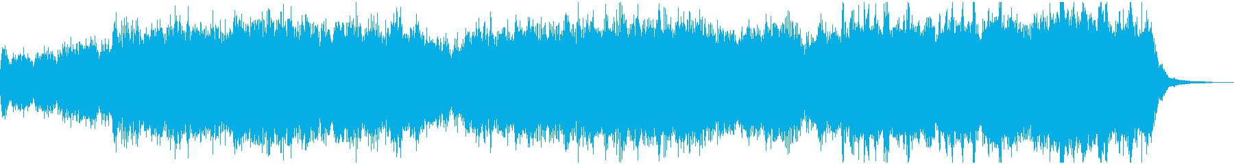 オーケストラによる戦闘リザルトBGMの再生済みの波形