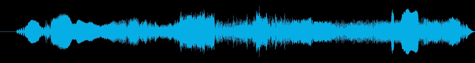 子供の女性:叫び声の再生済みの波形