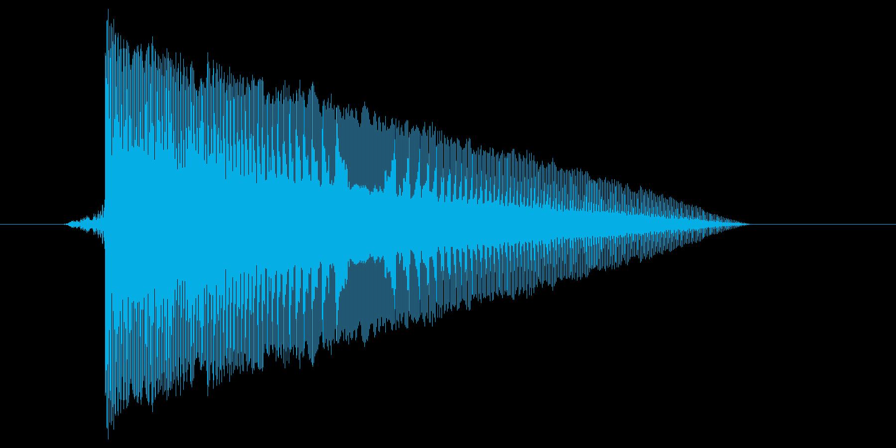 ゲーム(ファミコン風)レーザー音_002の再生済みの波形