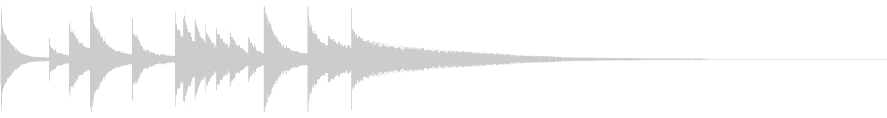 オーケストラベル:3月、SHORTの未再生の波形