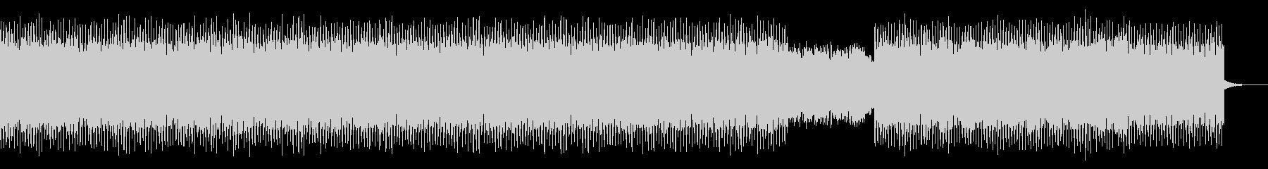 アップテンポな4つ打ちテクノポップの未再生の波形