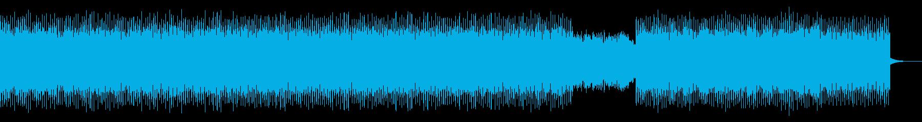 アップテンポな4つ打ちテクノポップの再生済みの波形