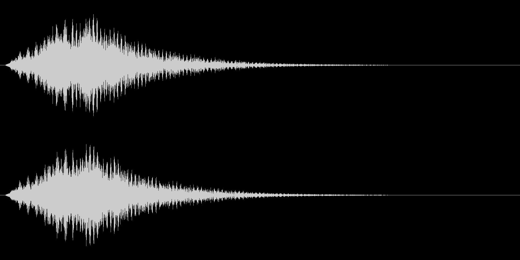サスペンス的音の未再生の波形