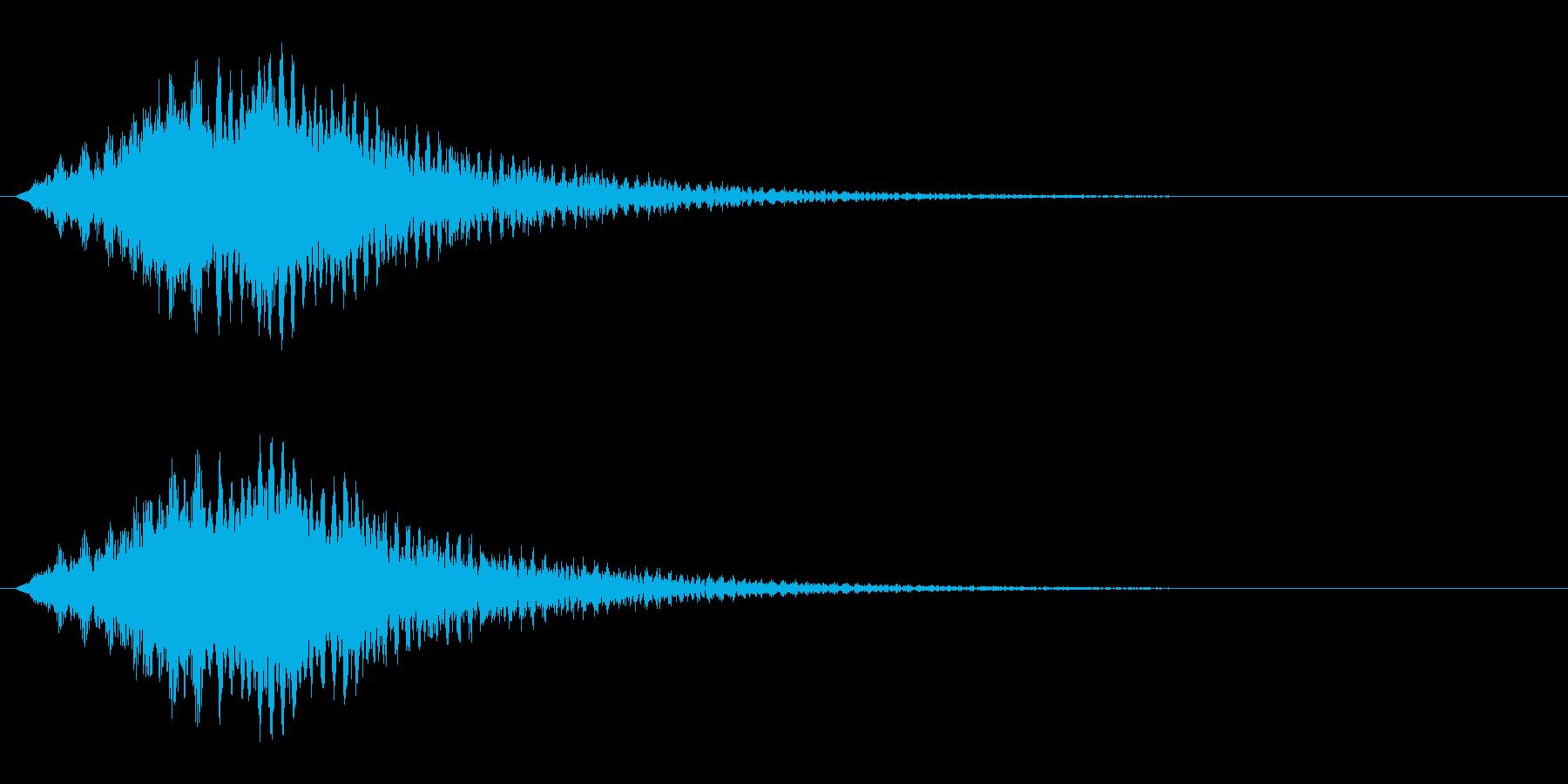 サスペンス的音の再生済みの波形