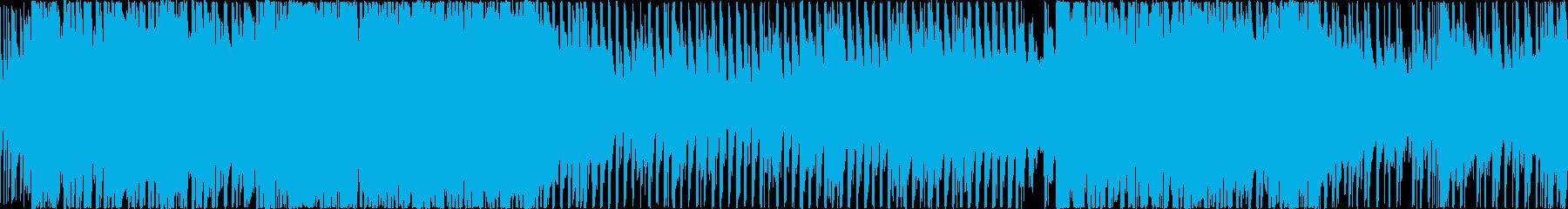 軽快なバトルやアクションをイメージした曲の再生済みの波形