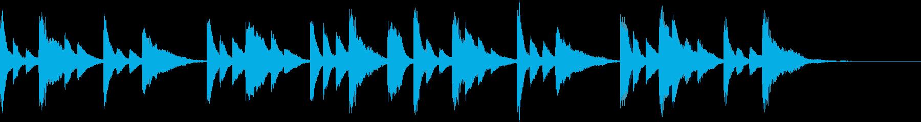 回想シーンに流れそうなピアノの再生済みの波形