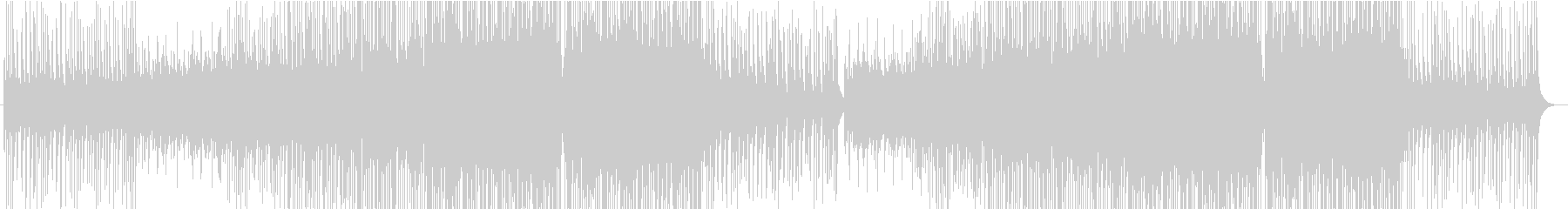 優しく温かく明るいトロピカルハウス楽曲の未再生の波形