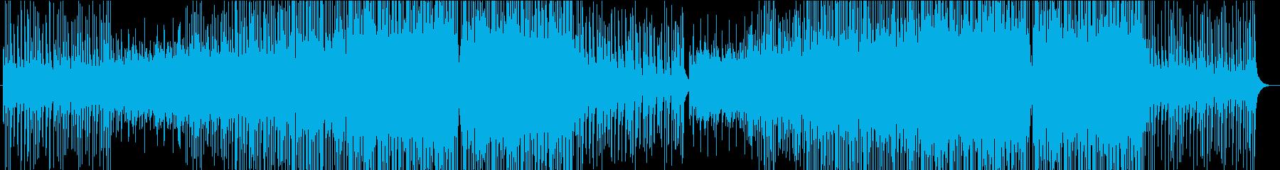 優しく温かく明るいトロピカルハウス楽曲の再生済みの波形