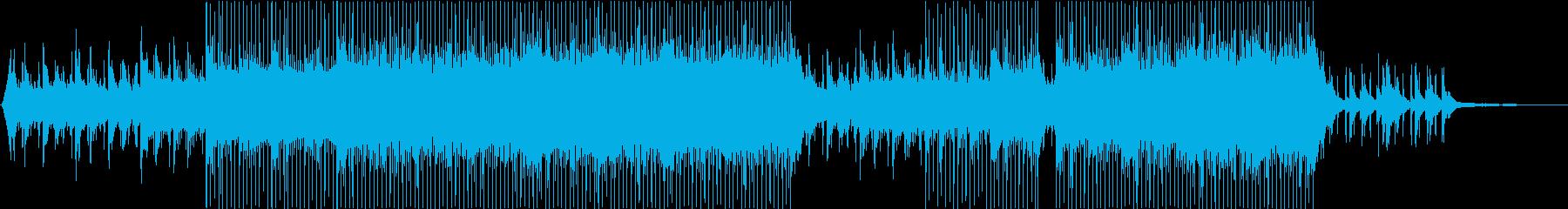 爽やかで爽快なイメージのコーポレート曲の再生済みの波形