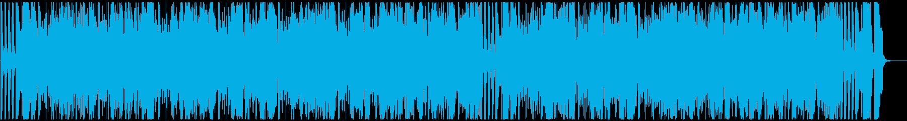 ファンキーなブラスのノリノリなファンクの再生済みの波形