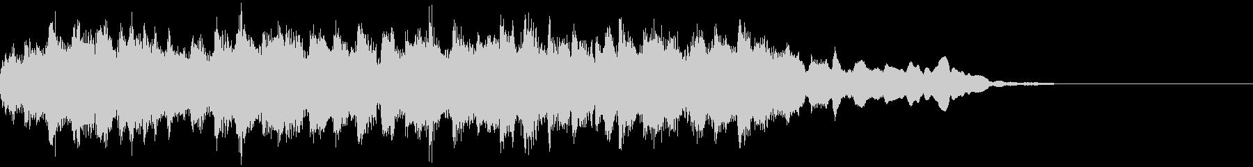 音色が厚めのキラキラサウンドロゴの未再生の波形