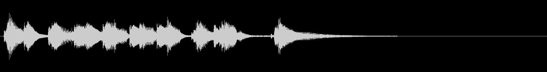 ピアノとウクレレの明るいジングルの未再生の波形