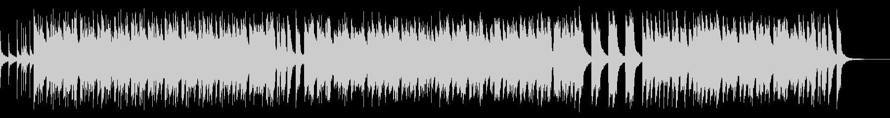 スティールドラムを使った定番の南国風の曲の未再生の波形