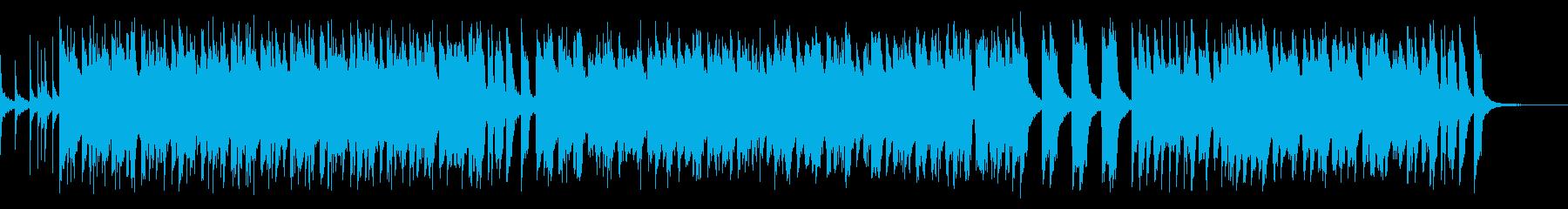 スティールドラムを使った定番の南国風の曲の再生済みの波形