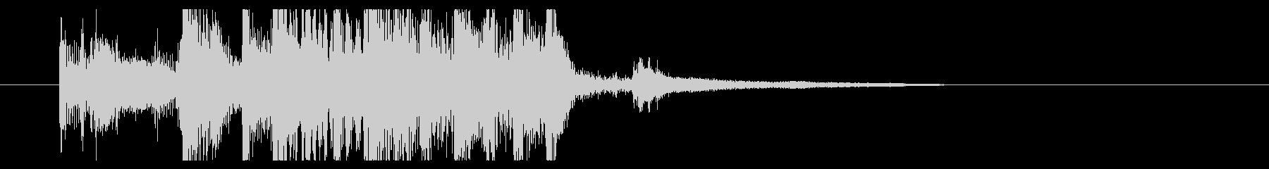 ブルージーなギターとピアノのジングルの未再生の波形