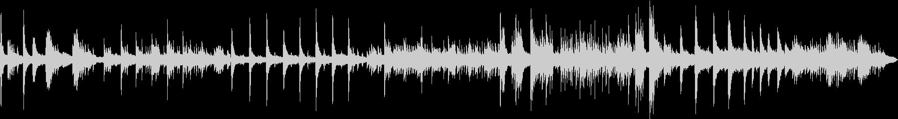 ピアノメインのヒーリングBGMの未再生の波形