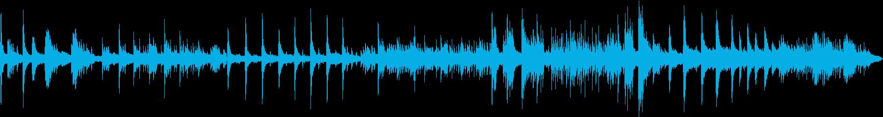 ピアノメインのヒーリングBGMの再生済みの波形