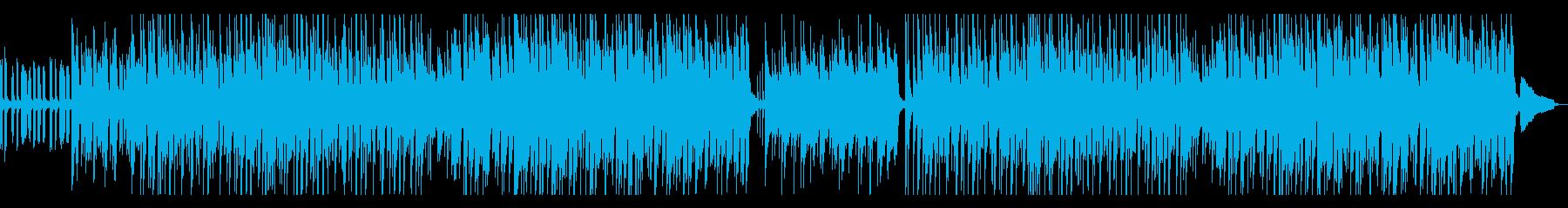 カフェのモーニングに合ったボサノバ風音楽の再生済みの波形