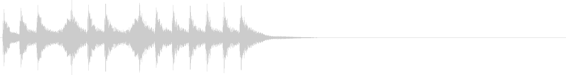 三三七拍子(速)太鼓+手拍子+笛+掛け声の未再生の波形