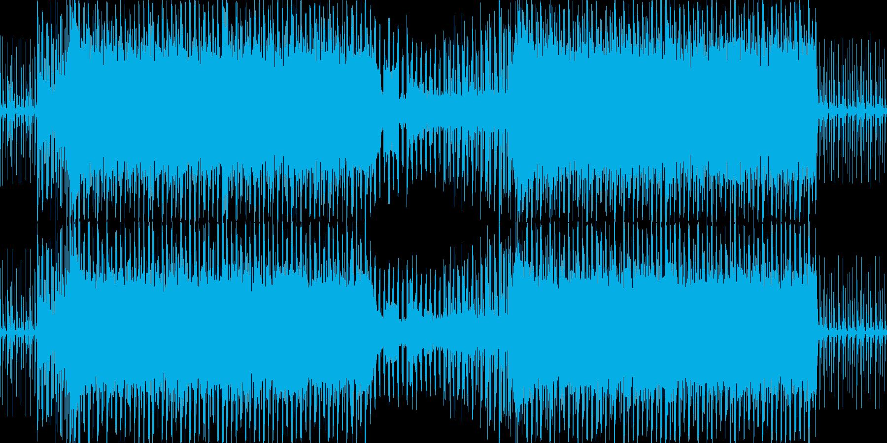 キャッチーで明るいEDMの再生済みの波形