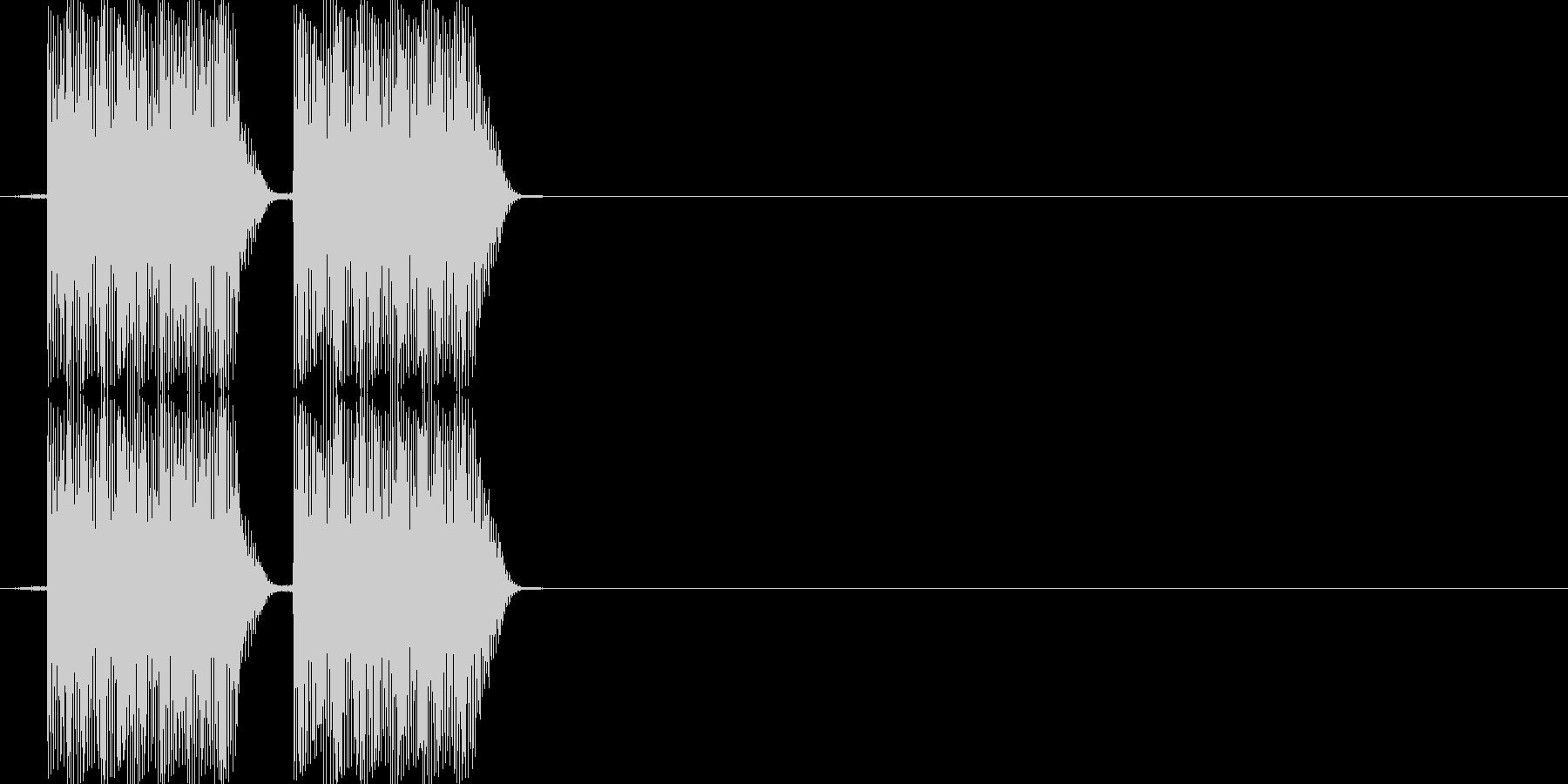 ビビッ(PC、キャンセル音)の未再生の波形