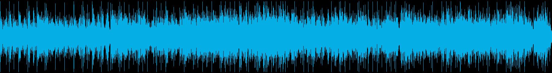 ループ 説明・紹介動画向け爽やかなBGMの再生済みの波形