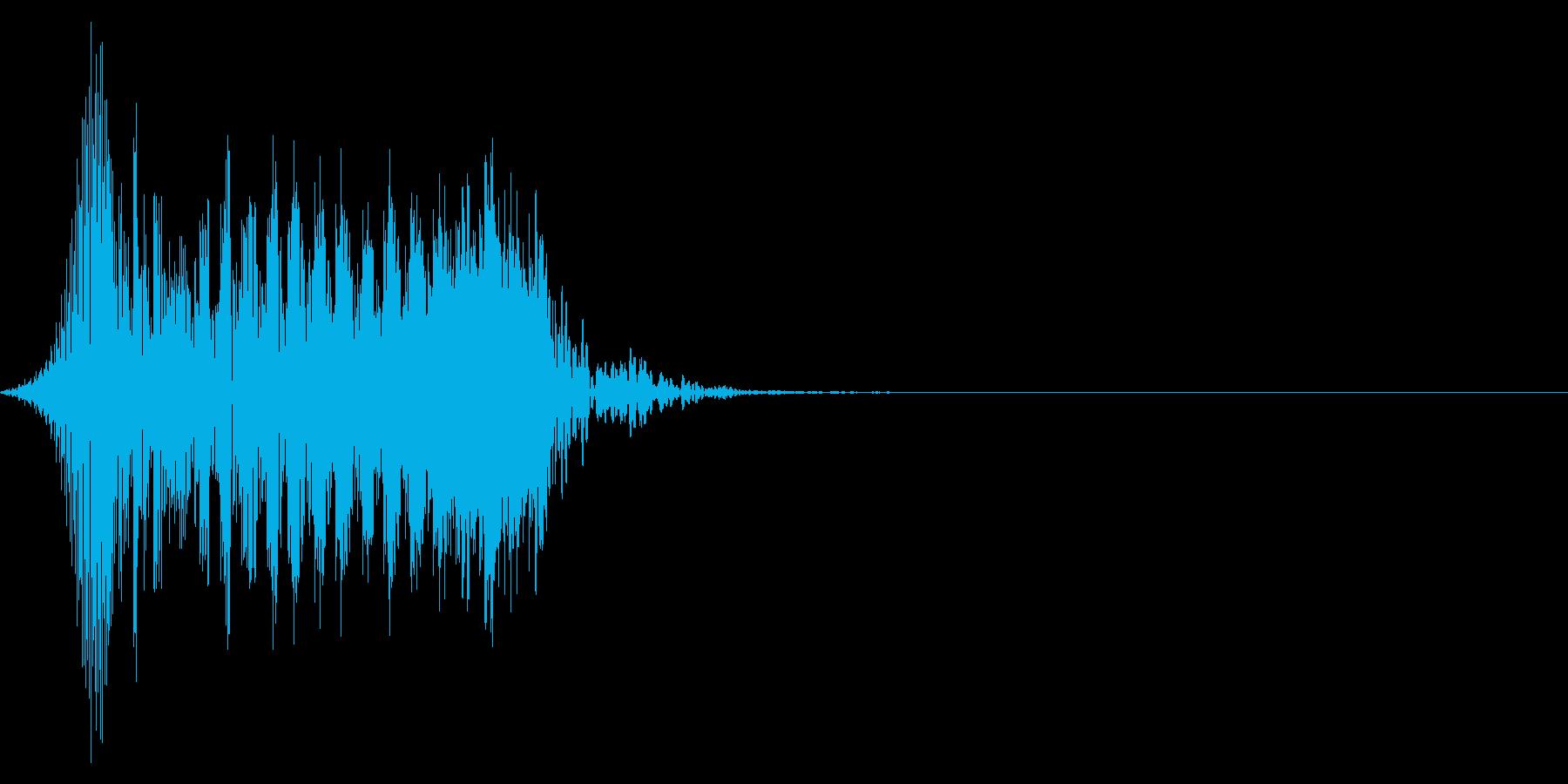 ゲーム掛け声男1ヤー1の再生済みの波形