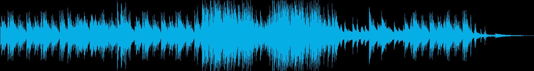 陰鬱な雰囲気のピアノ楽曲の再生済みの波形