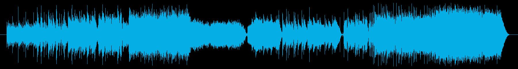 和風でアップテンポのテクノの再生済みの波形