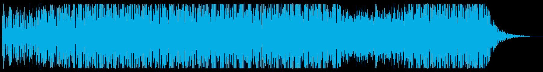 青空の下でウキウキお散歩の明るい曲の再生済みの波形