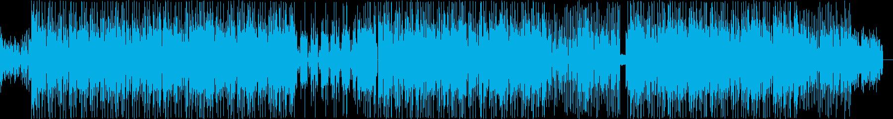 ファンク系ビートの再生済みの波形