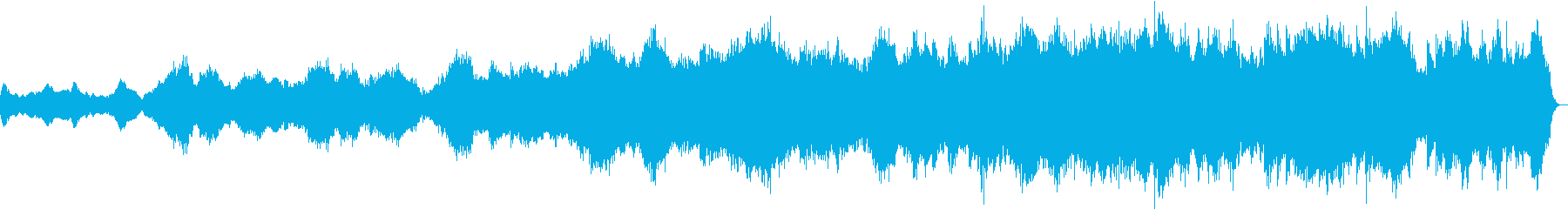 壮大なイメージの曲の再生済みの波形