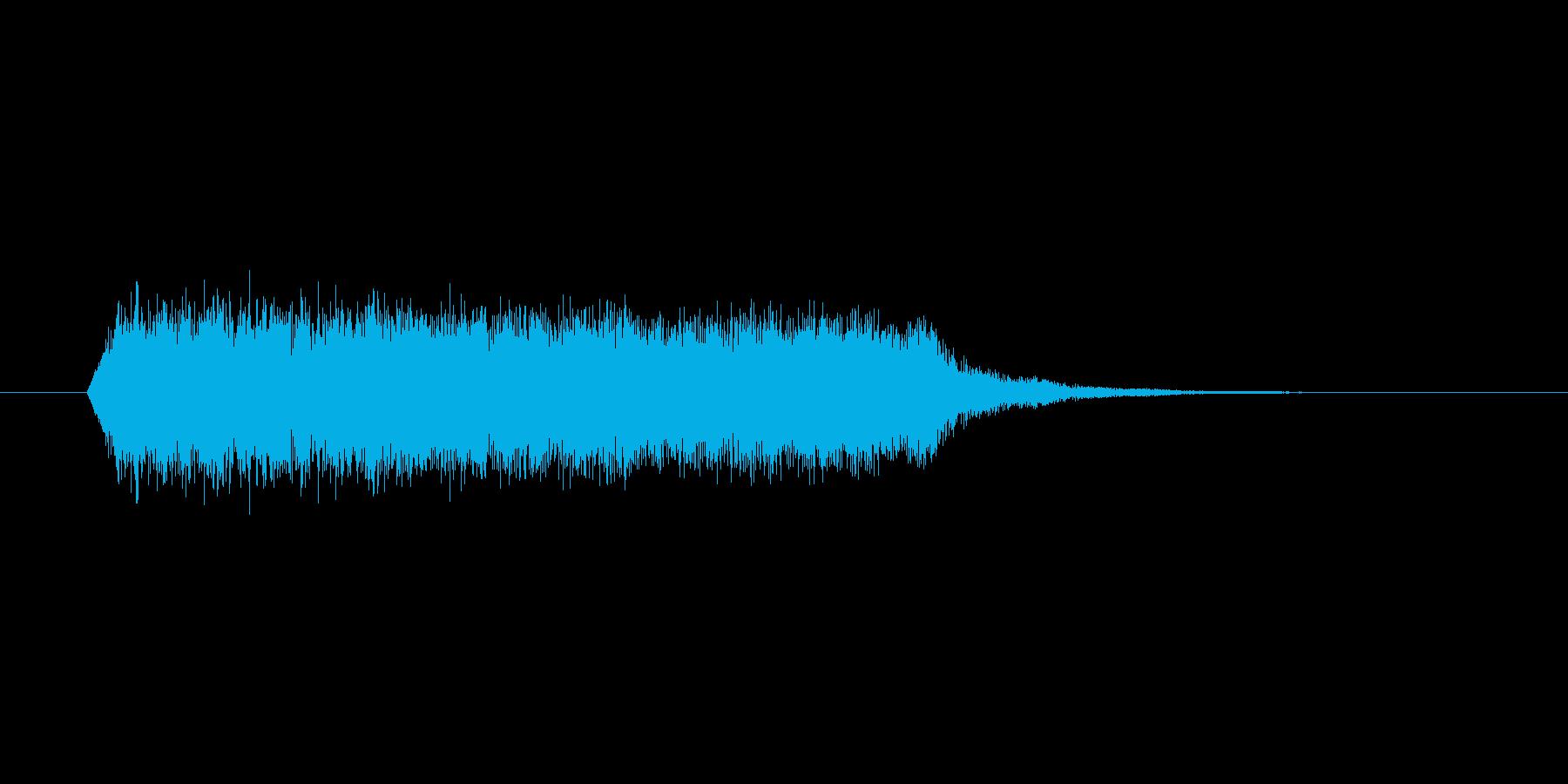 パチンコスーパーリーチ系上昇音の再生済みの波形