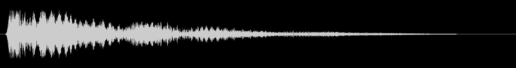 ピヨヨヨョ〜ン(震えているような効果音)の未再生の波形