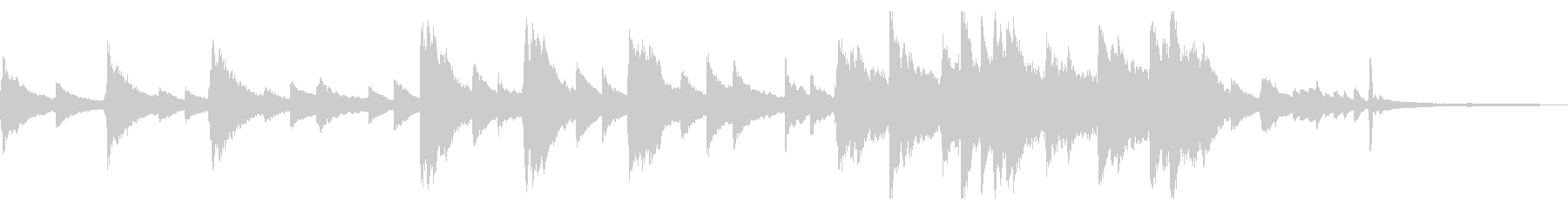 企業VP・CM用 60秒のピアノソロの未再生の波形