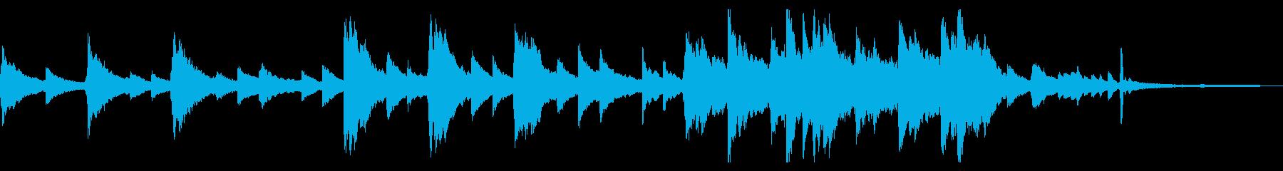 企業VP・CM用 60秒のピアノソロの再生済みの波形