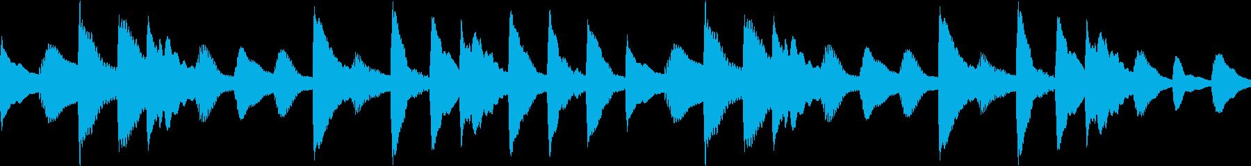ほのぼのした日常02 マリンバ(ループ)の再生済みの波形