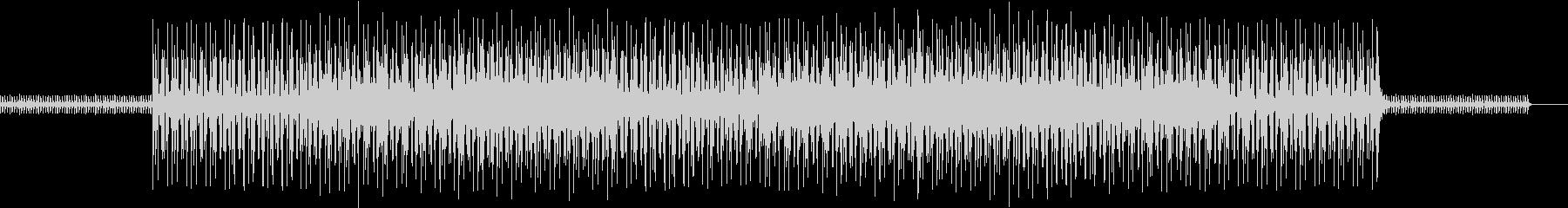 マリンバとシンセのタイトなビートの未再生の波形