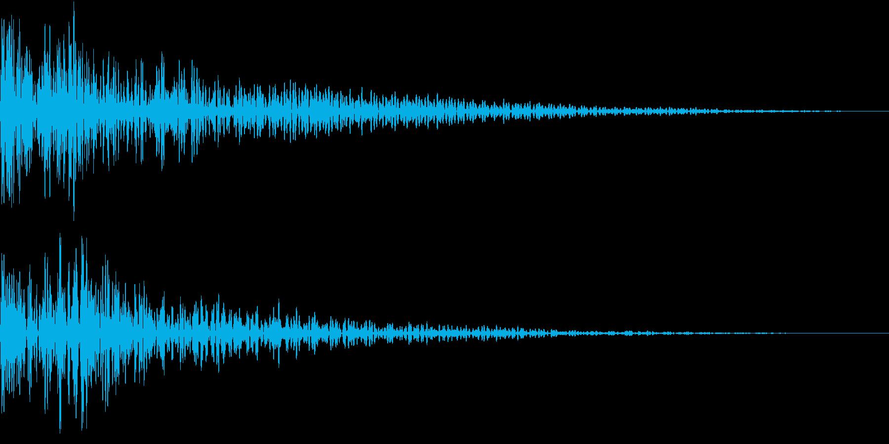 迫力のある和太鼓の再生済みの波形
