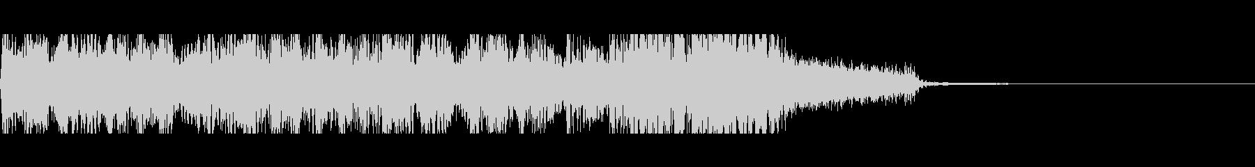 ロック風なアテンション音の未再生の波形