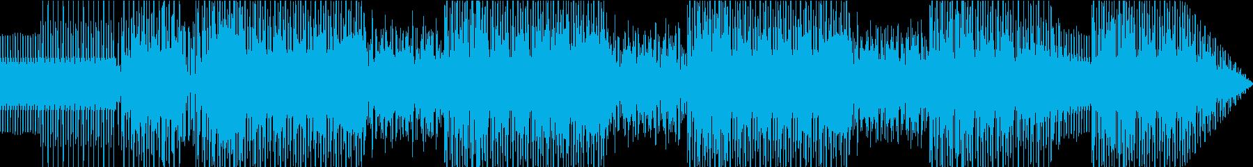 不気味でファンキーなエレクトロビートの再生済みの波形