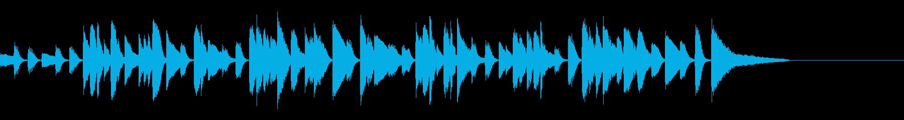 ゆったりした会話のピアノの再生済みの波形