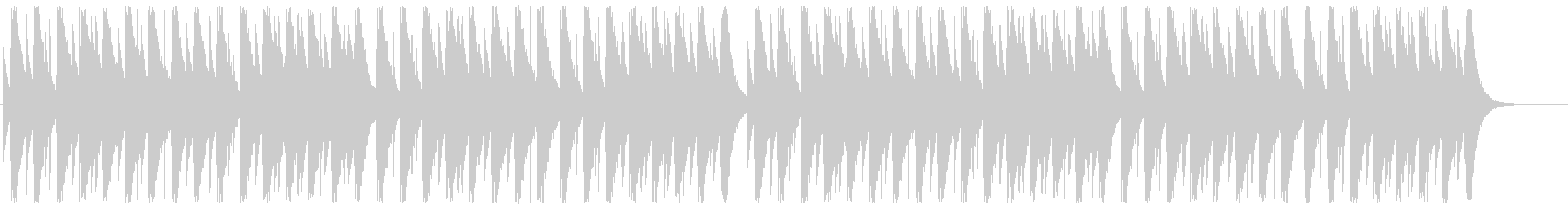 オルゴール・グリーンスリーブスの未再生の波形
