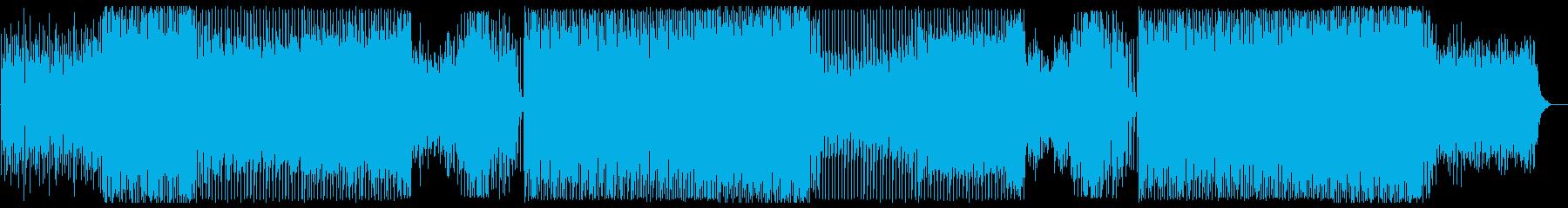 元気で明るい軽快なシンセサイザーの曲の再生済みの波形