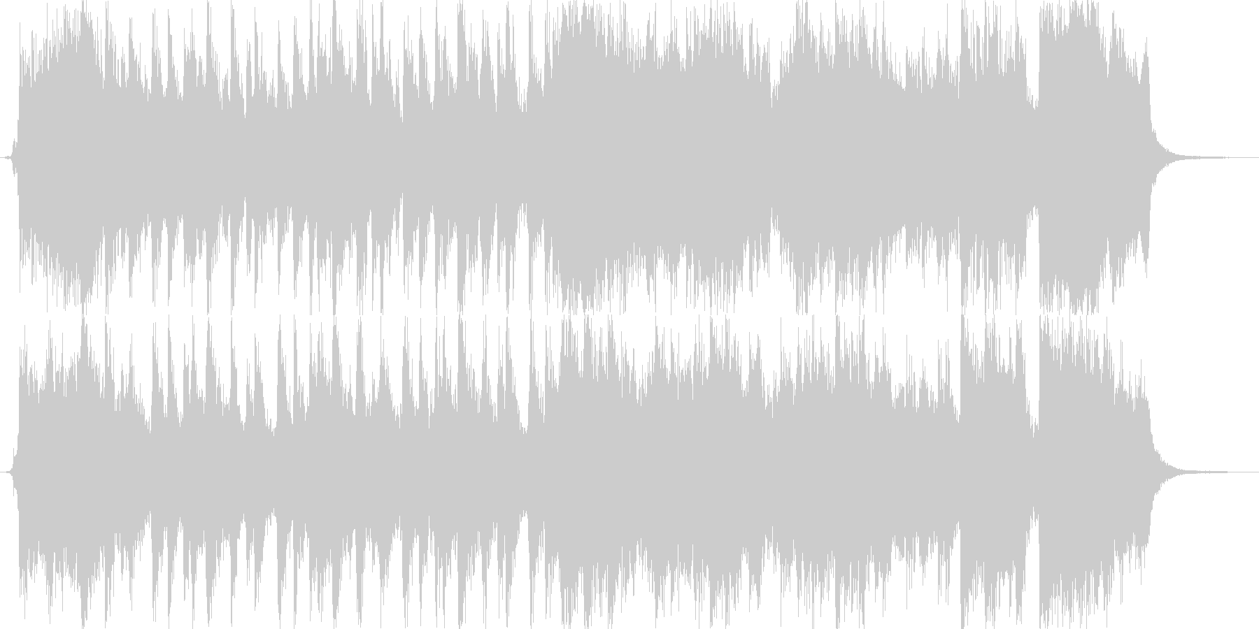 希望に満ちたオーケストラジングル。の未再生の波形
