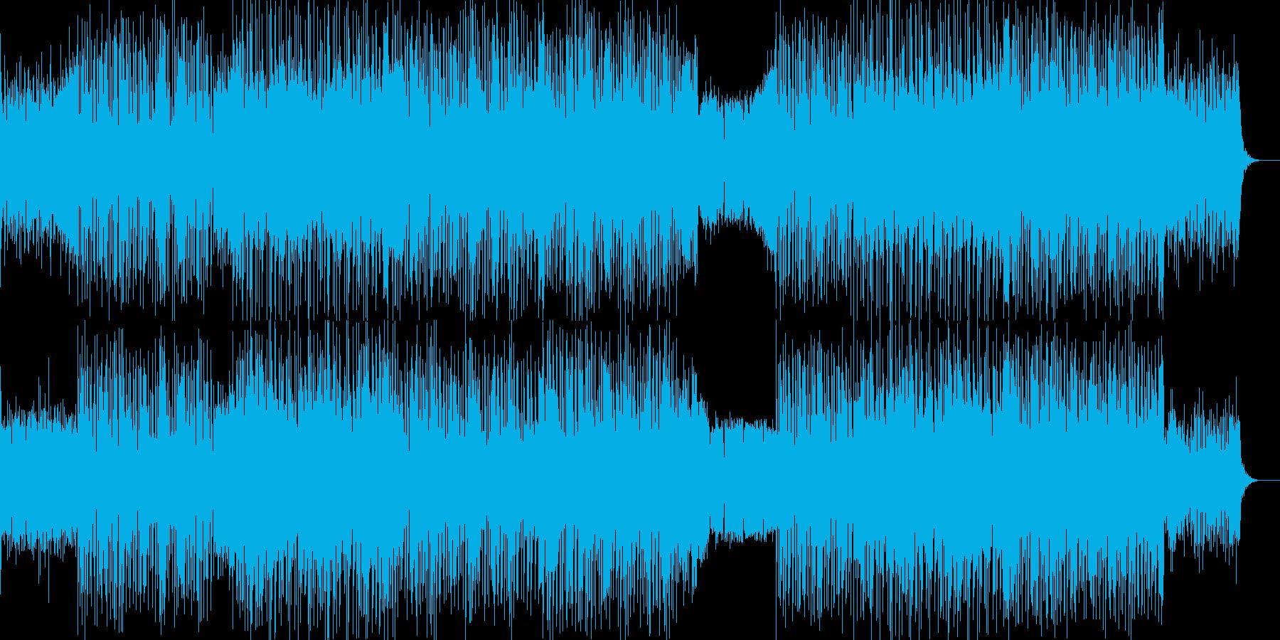 強烈なシーケンス音が爽やかな印象のテクノの再生済みの波形