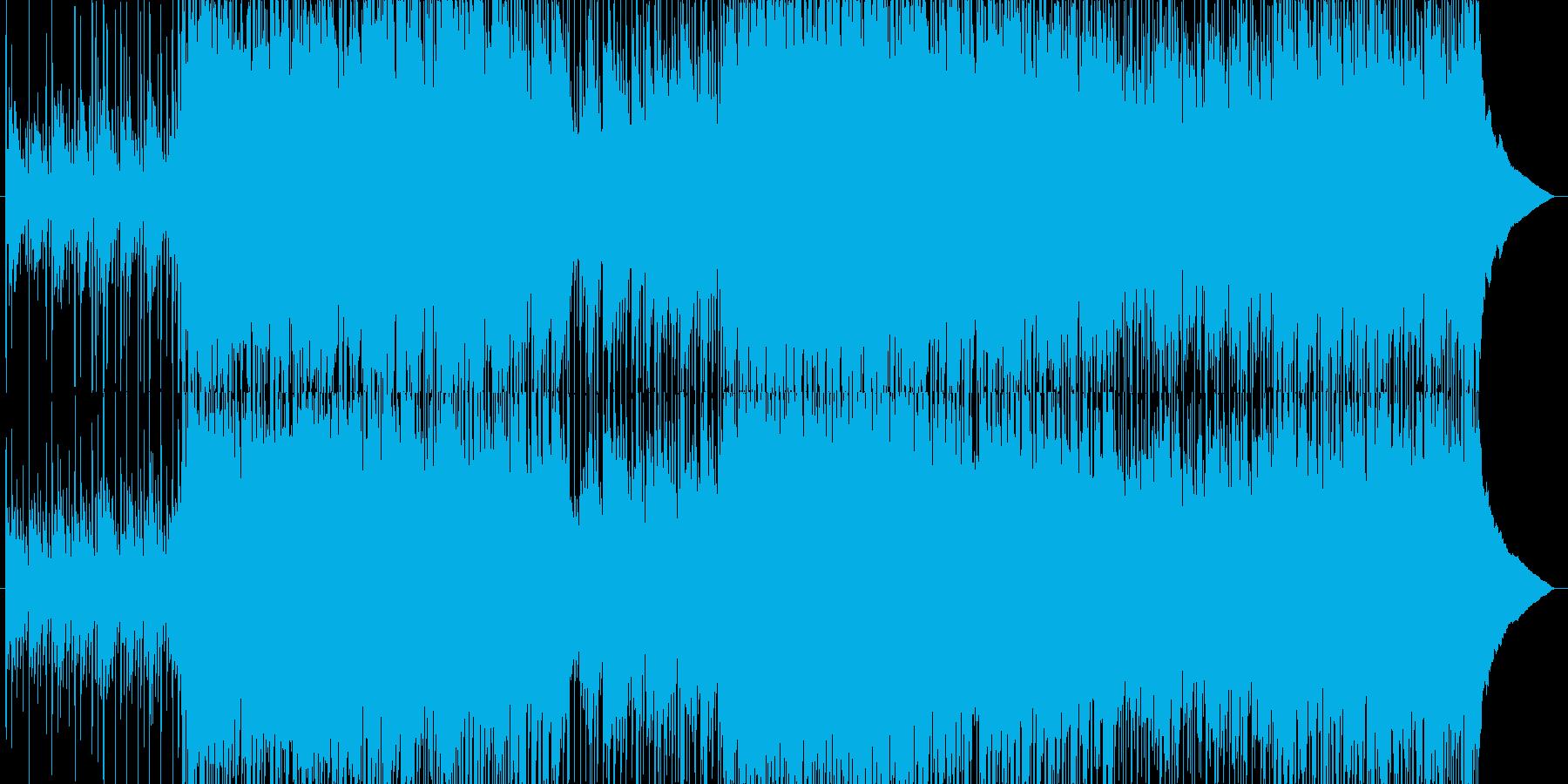 【ピアノ・ロック】映像オープニング向けの再生済みの波形