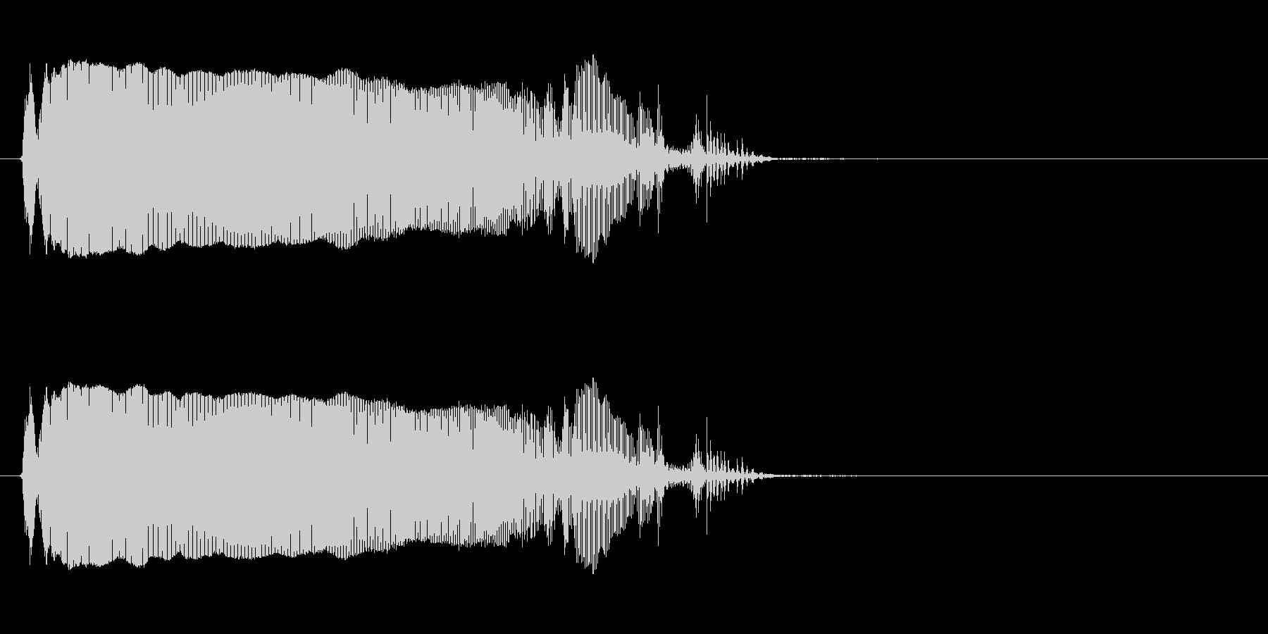 トロンボーン:ロングスライドダウン...の未再生の波形